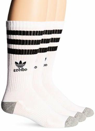 Men's Adidas 3-Pack Original Roller Crew Socks, Size One Siz