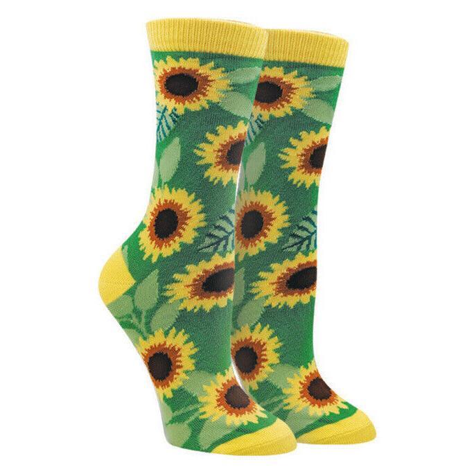 sunflowers women s crew socks new novelty