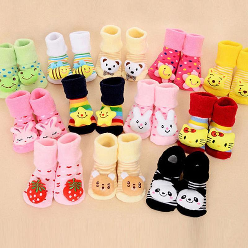 Unisex Clothing Newborn Baby Cotton Slipper Anti Slip Shoes