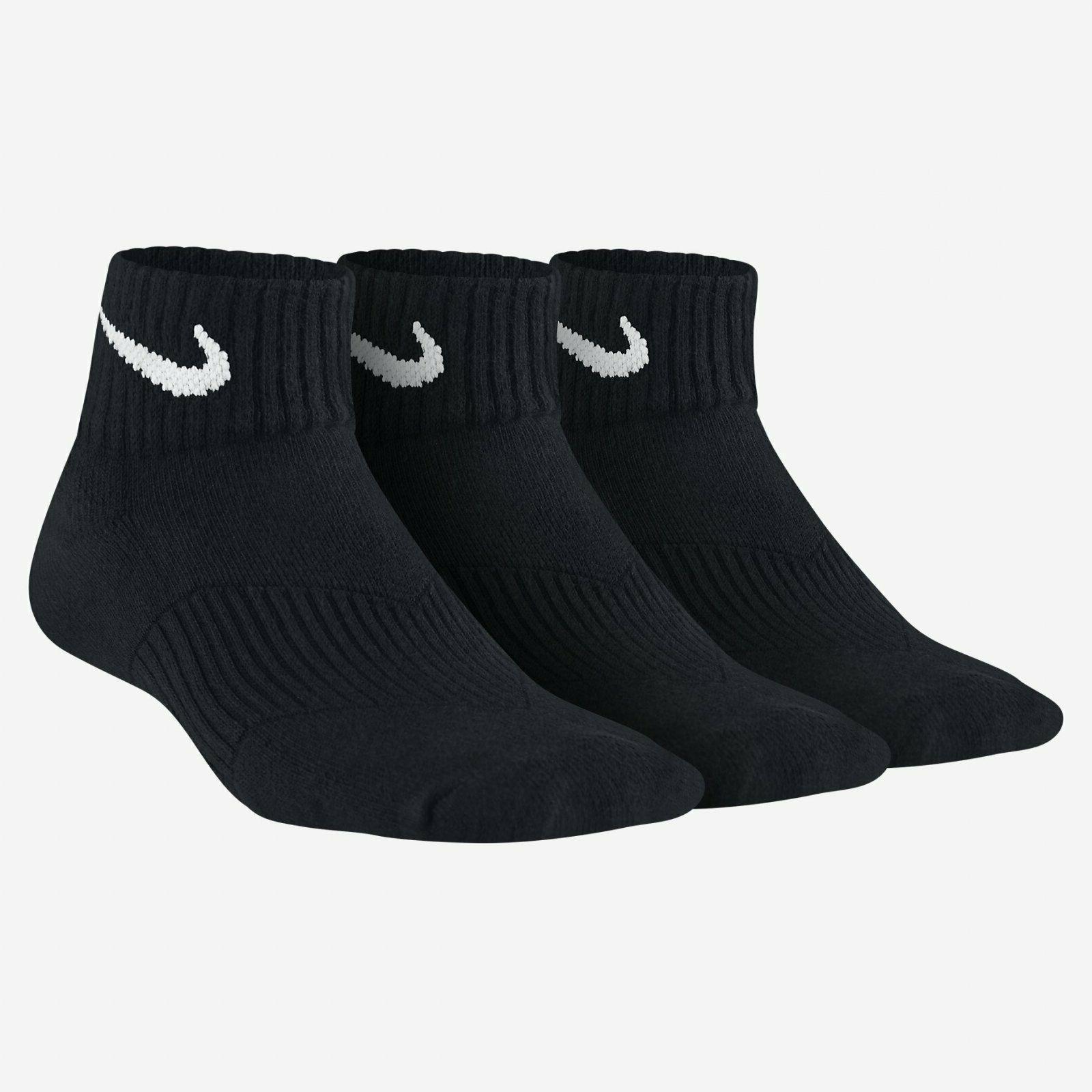 Nike 3 Pack Youth Quarter Socks