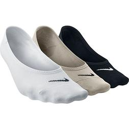 NIKE Women's Everyday Lightweight Footie Training Socks , Bl