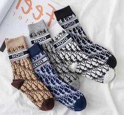 Dior Logo Women Socks Cotton Middle tube socks Choose Multip