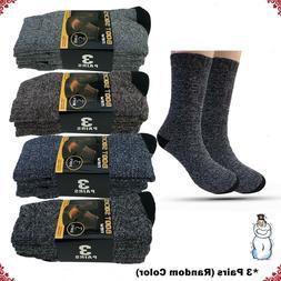 Lot 3-12 Pairs Mens Winter Heavy Duty Warm Thermal Crew Sock