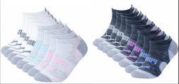 PUMA Low Cut Women's Socks No Show Athletic Cushioned 8-Pack