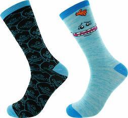 meeseeks 2 pack casual crew socks 6