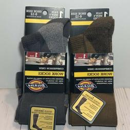 Dickies Men's 2 Pair Gold Series Compression Work Crew Socks