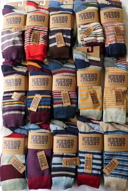 Green Treat Men's 3 PACK Super Soft Bamboo Crew Socks Choose