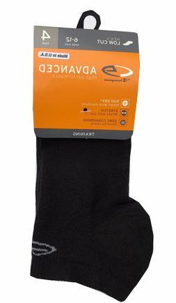 """C9 By Champion® Men's 4-pack Black Low Cut Socks  """"Double D"""