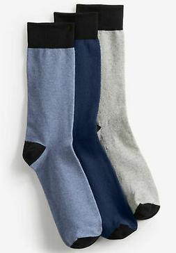 KingSize Men's Big & Tall Contrast Dress Socks 3-Pack
