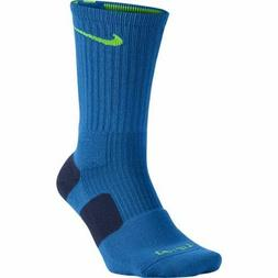 Nike Men's Blue Elite Basketball Quarter Length Socks 4003 S