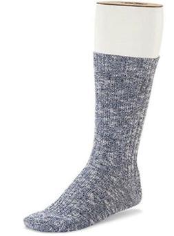 Birkenstock Men's Cotton Slub 1 pack Socks, Black/Grey US M8