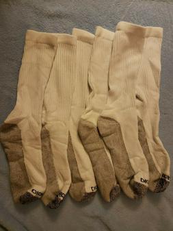 Dickies Men's Crew Socks #3 Pairs Grey/White Sock Size 8-10
