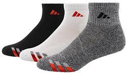 adidas Men's Cushioned Quarter Socks , Grey, Size 6-12