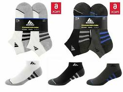 Adidas Men's Low Cut Ankle Socks with Climalite, 6-pair, Var