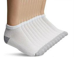 Gildan Men's Low Cut Socks 10 Pair Pack, White, Shoe Size: 6