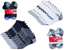 Puma Men's No Show Low Cut Ankle Socks, 8-pair Select Black