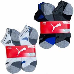 Puma Men's No Show Socks, 8-pair, Multi or White,
