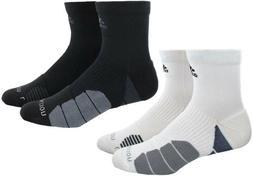 Adidas Men's Traxion Menace Athletic High Quarter Socks, 2 C