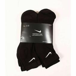 Nike Everyday Cotton Cushioned Ankle Socks L 6-Pair Black Dr