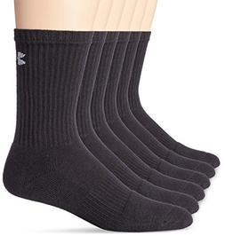Under Armour Men's 6 Pack Large Charged Cotton Crew Socks