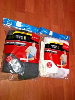 Hanes Mens Cushion Crew Socks Sport 6 Pair Size 6-12 Full Co