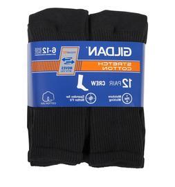 Gildan Men's Performance 12 Pair Crew Socks, Size 6-12, Bl