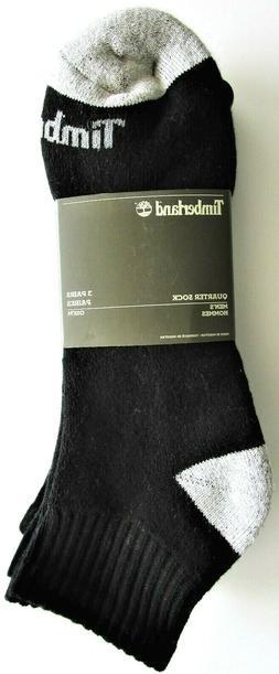 Timberland Mens' Quarter Length Socks Black OSFM 3 Pair - NW