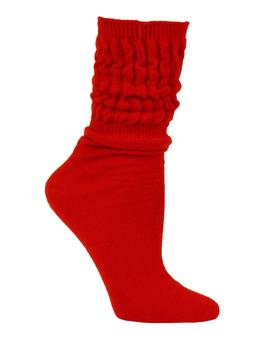 Millennium Women's Slouch Socks - 1 Pair - Red