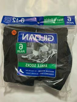 Gildan New 18 Pairs Mens Black Sports Athletic Ankle Socks C