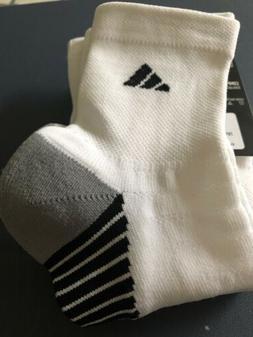NEW adidas - 2 Pack White Nylon Quarter Length Socks
