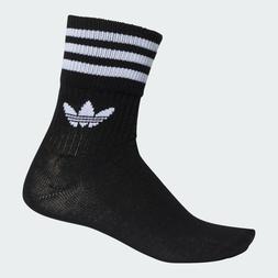 *NEW* Adidas Originals Mid-Cut Crew Socks 3 pairs Pack Black