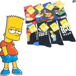 New Simpsons Socks for Men Women Simpson Meias Men's Cartoon