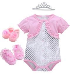Newborn Baby Girl Infant playsuit Bodysuit Clothes Tutu part