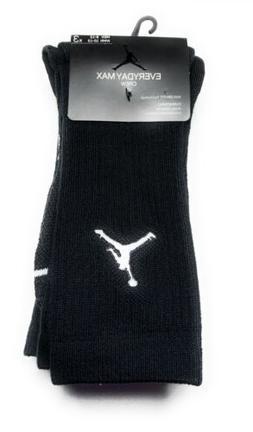 Nike Air Jordan EVERYDAY MAX CREW Socks Color Black 3-Pack S