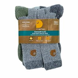 NWT Carhartt mens 4 pack cold weather wool blend crew socks