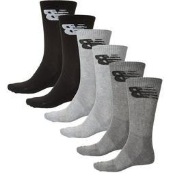 NWT New Balance Mens 5 or 6 pairs fitness basics crew socks