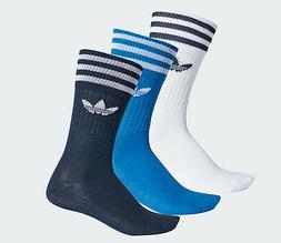 Adidas originals Socks 3 Stripes Crew trefoil 3 Pairs blue m