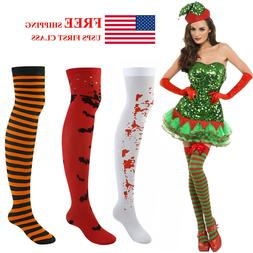 Over Knee High Long Socks Womens Striped Thigh Stockings for