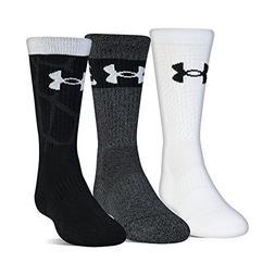 Under Armour Phenom Sc30 2.0 Crew Socks, 3 Pairs, Black Asso