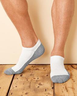 Gildan Platinum Cushion No-Show Socks - Black or White/Grey