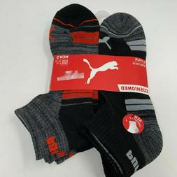 Puma Men's 6 Pack Pairs Quarter High Socks   Gray Black So