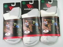 3 Pair New Balance Men's Socks 1/4 Quarter White Outlast Acr