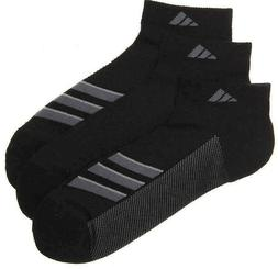 adidas Stripe Climacool Superlite No Show Socks 3 Pair Black