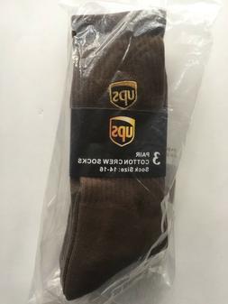 Three Pair ~CREW Socks~ Size Men XL  United Parcel Service U
