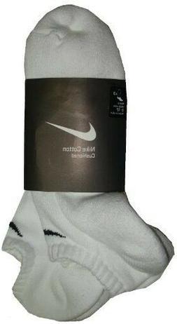 Nike UNISEX Woven Ankle Length Socks  White Men's 8-12 Wom