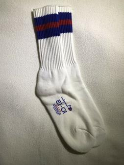 Vintage Champion Socks New Size 10-13 Blue/Red