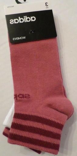 Adidas Women's Climalite Low Cut Socks 3 Pair Shoe Size 5-10