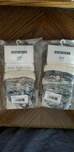 Birkenstock Women's Cotton Structure Socks Light Blue NEW US