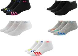 adidas Women's Cushioned Low Cut Socks, 3 Pairs, Assorted Co
