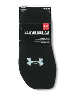 Under Armour Women's Essential Ultra Low Socks , Black, Medi